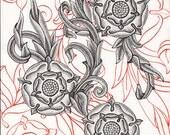 SALE! Black Tudor Rose, O...