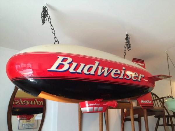Sold Late 80s Budweiser 'bud ' Airship Hanging