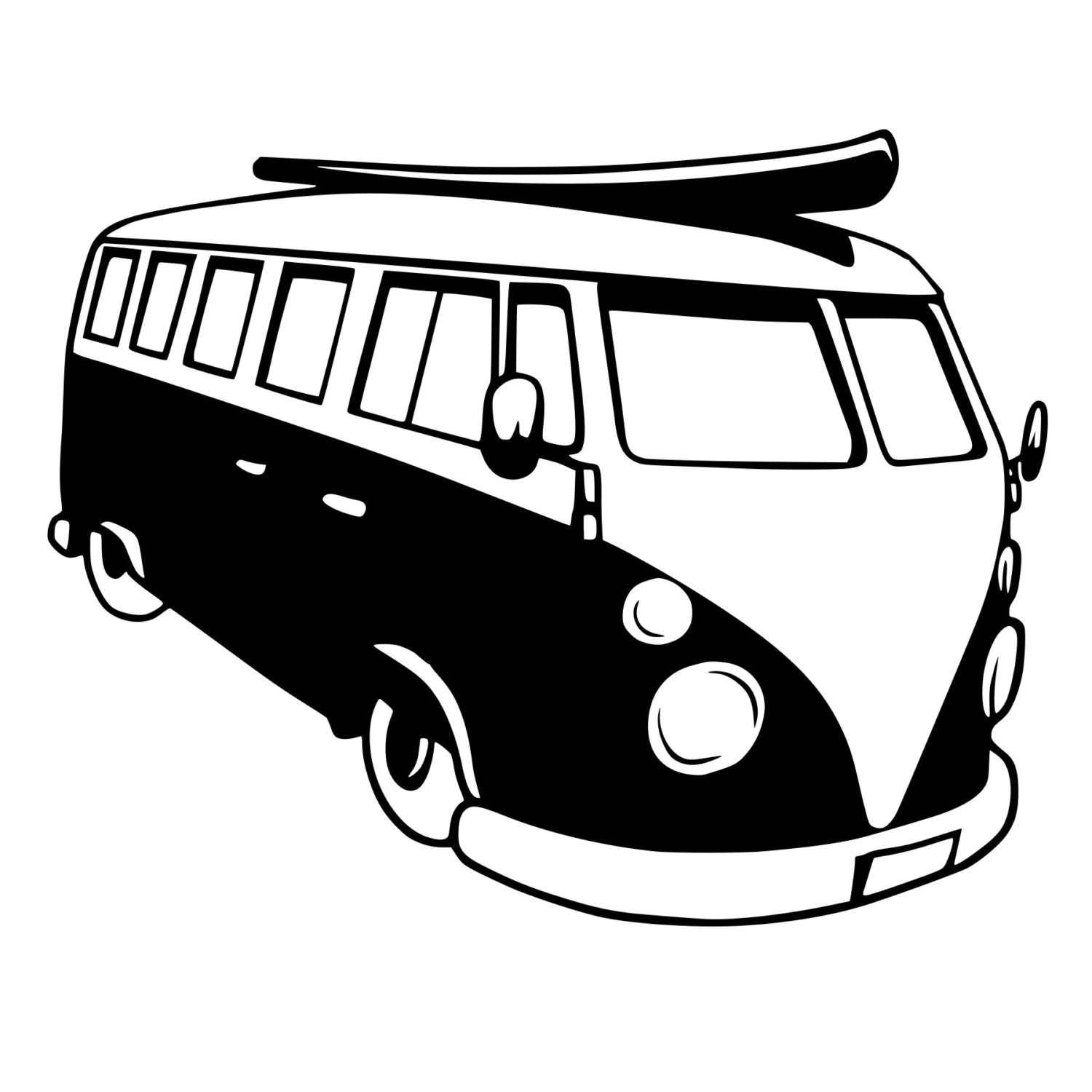 VW Bus Die-Cut Decal Car Window Wall Bumper Phone Laptop
