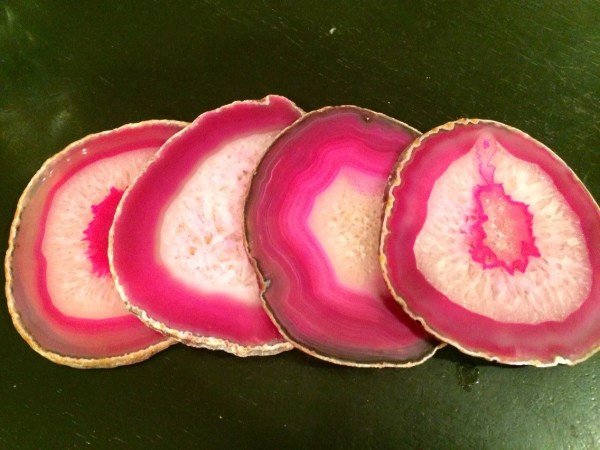Pink Agate Coasters