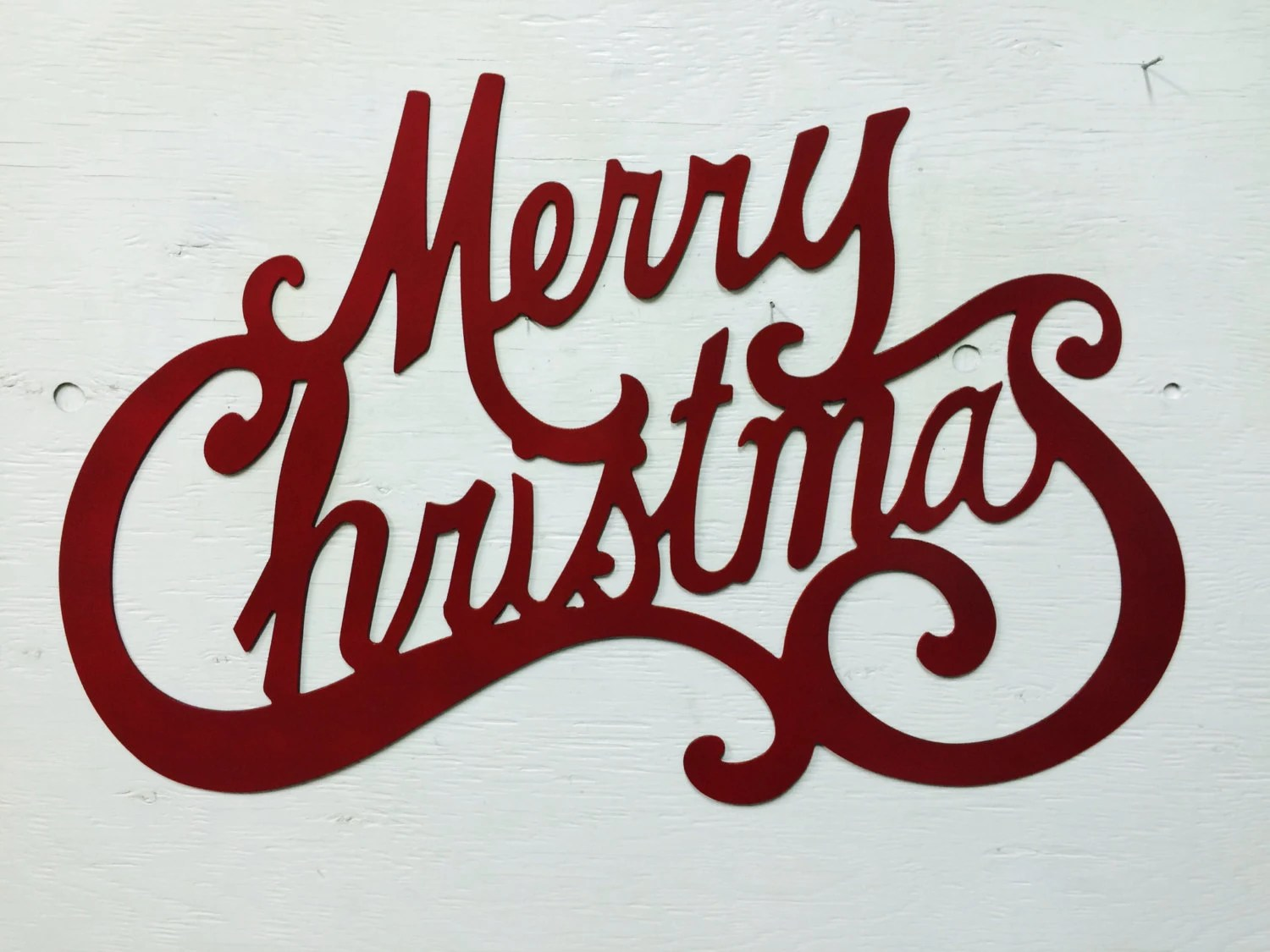 Metal Merry Christmas Sign 24 X 15.5