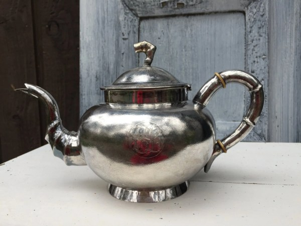 Chinese Export Silver Teapot Tuck Chang Antique Pure