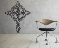 Celtic Cross Wall Decal Celtic Wall Vinyl Decal Interior Home
