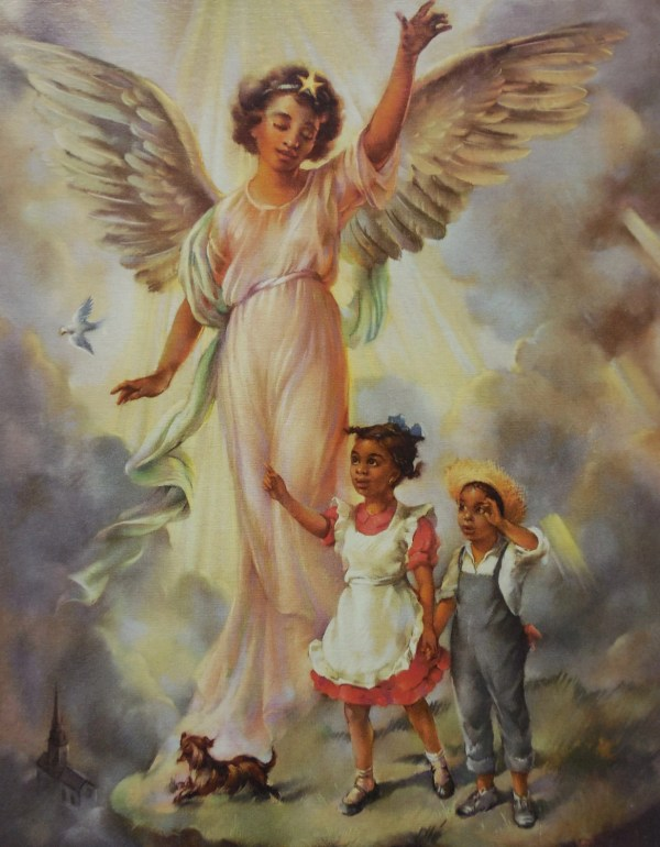 God' Little Angels Cecil Golding African American Fine