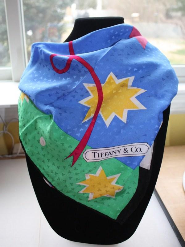 Vintage Breast Cancer Awareness Silk Scarf Tiffany &
