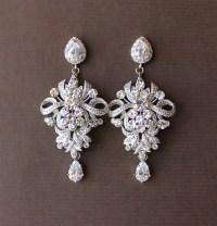 Wedding Chandelier Earrings Crystal Bridal Earrings by