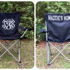 Folding Chair Embroidered Kitchen Chairs With Casters Monogrammed Camp Softball By Poshprincessbows1