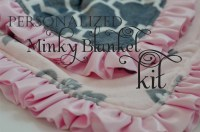 Personalized DIY Minky Baby Blanket Kit by Snugglebearboutique