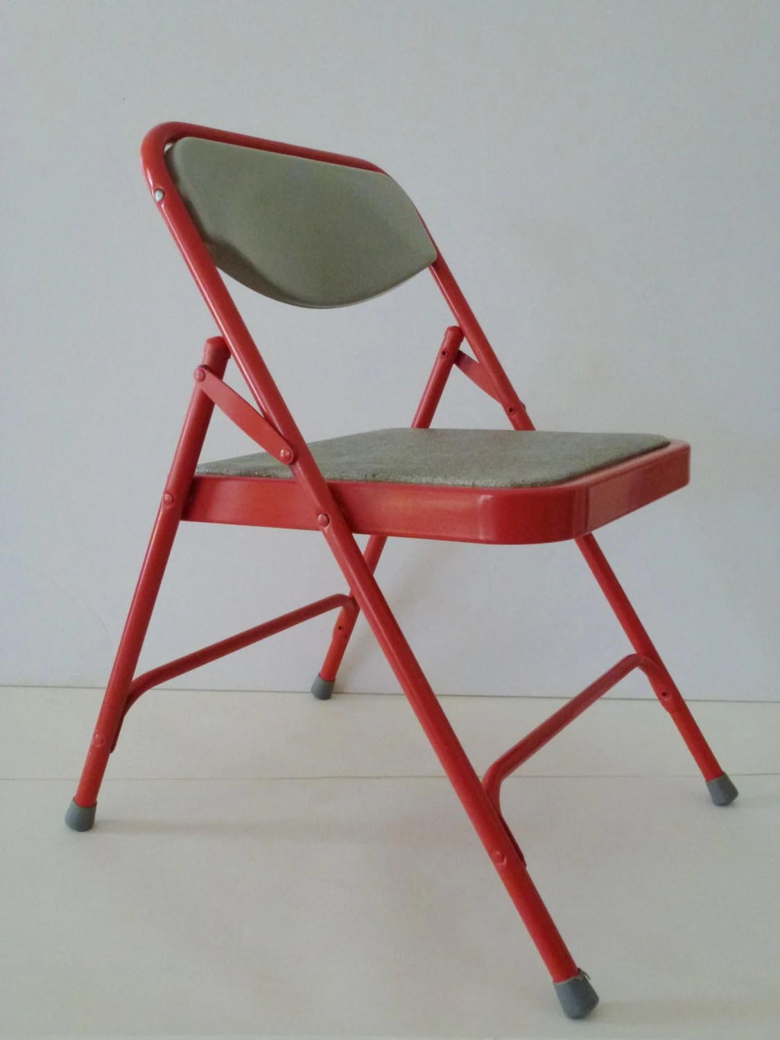folding chair for child pull out bed ottoman vintage samsonite coral and gray 39s metal