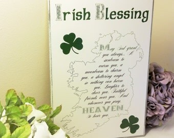 Irish Sign Plaque An Irish Blessing May Your Troubles Be