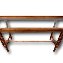 Vintage Lane Sofa Table 2 Seater Bed Dimensions Faux Bamboo Console  Haute Juice