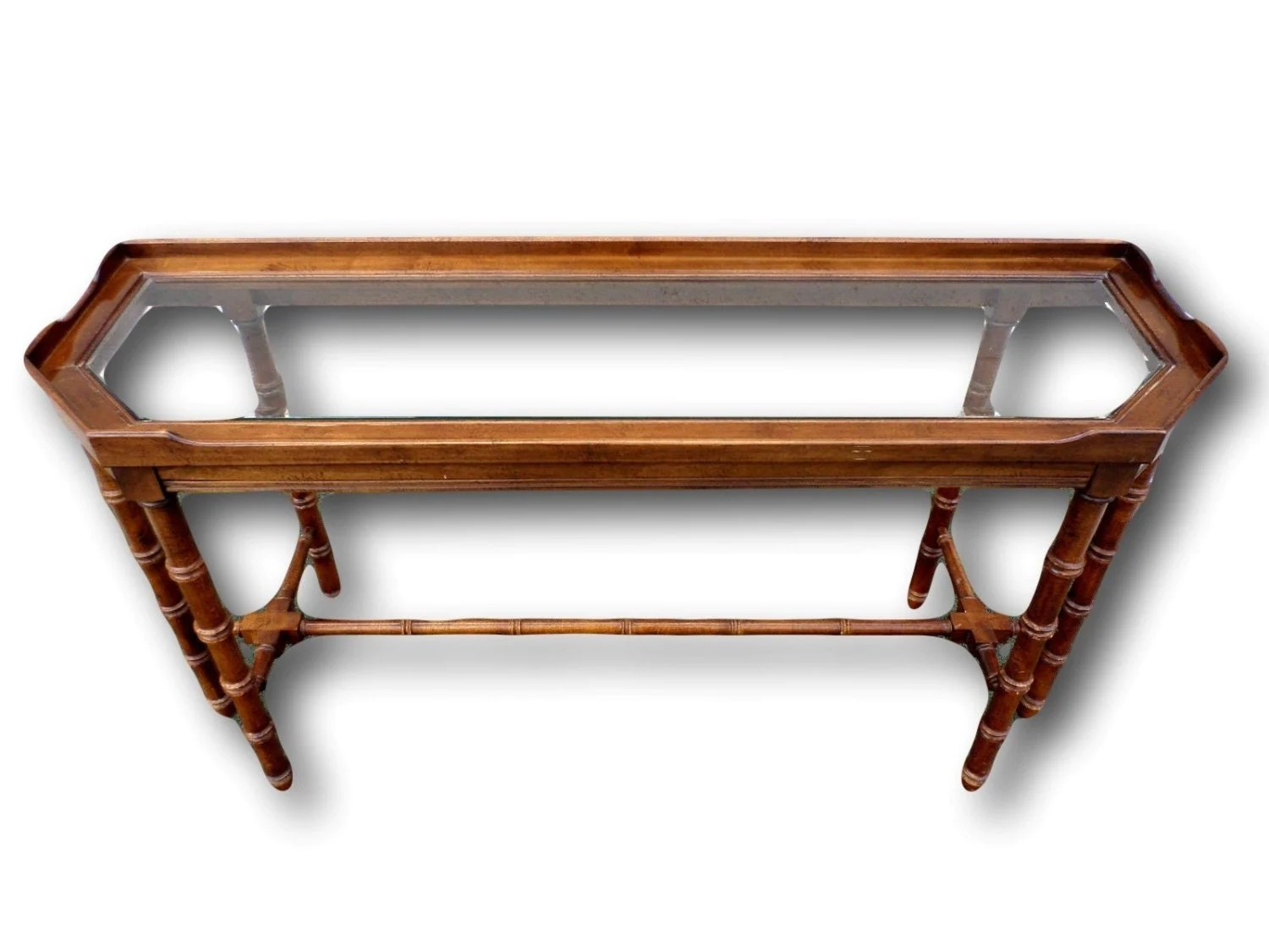 vintage lane sofa table slipcovers for seats faux bamboo console  haute juice