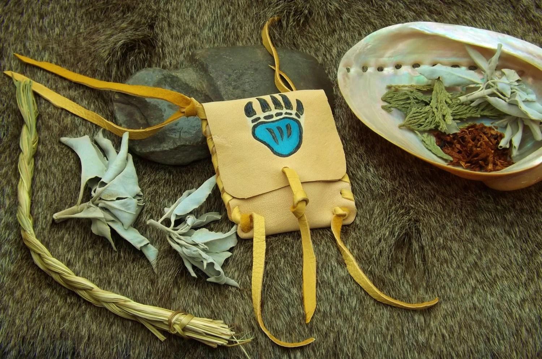 Deerskin Bear Medicine Pouch Native American