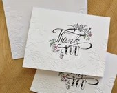 Set of 5 Floral Embossed ...