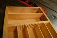Adjustable Real Wood Kitchen Drawer Organizer Solid Maple