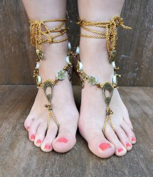 Unique Crochet Barefoot Sandals