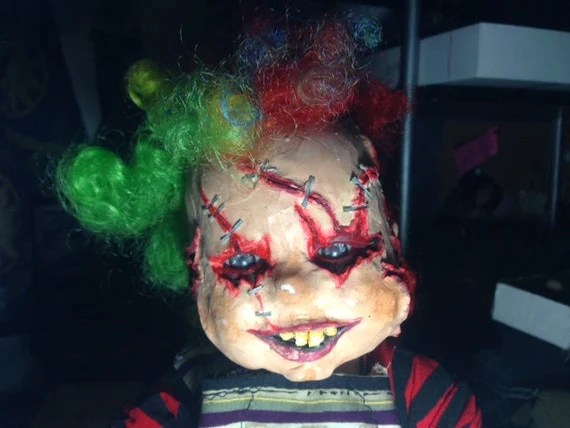 Insane CREEPY clown baby doll by MisfitCords on Etsy