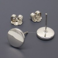 Fake Plug Gauge Earrings White Studs 14 Gauge 16 Gauge