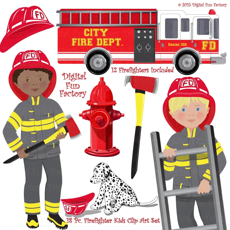 Fireman Clip Art Firefighters Clip Art Fire Truck