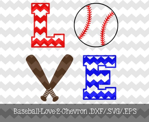 Download Items similar to Baseball- Love-2- Chevron Decal Files ...