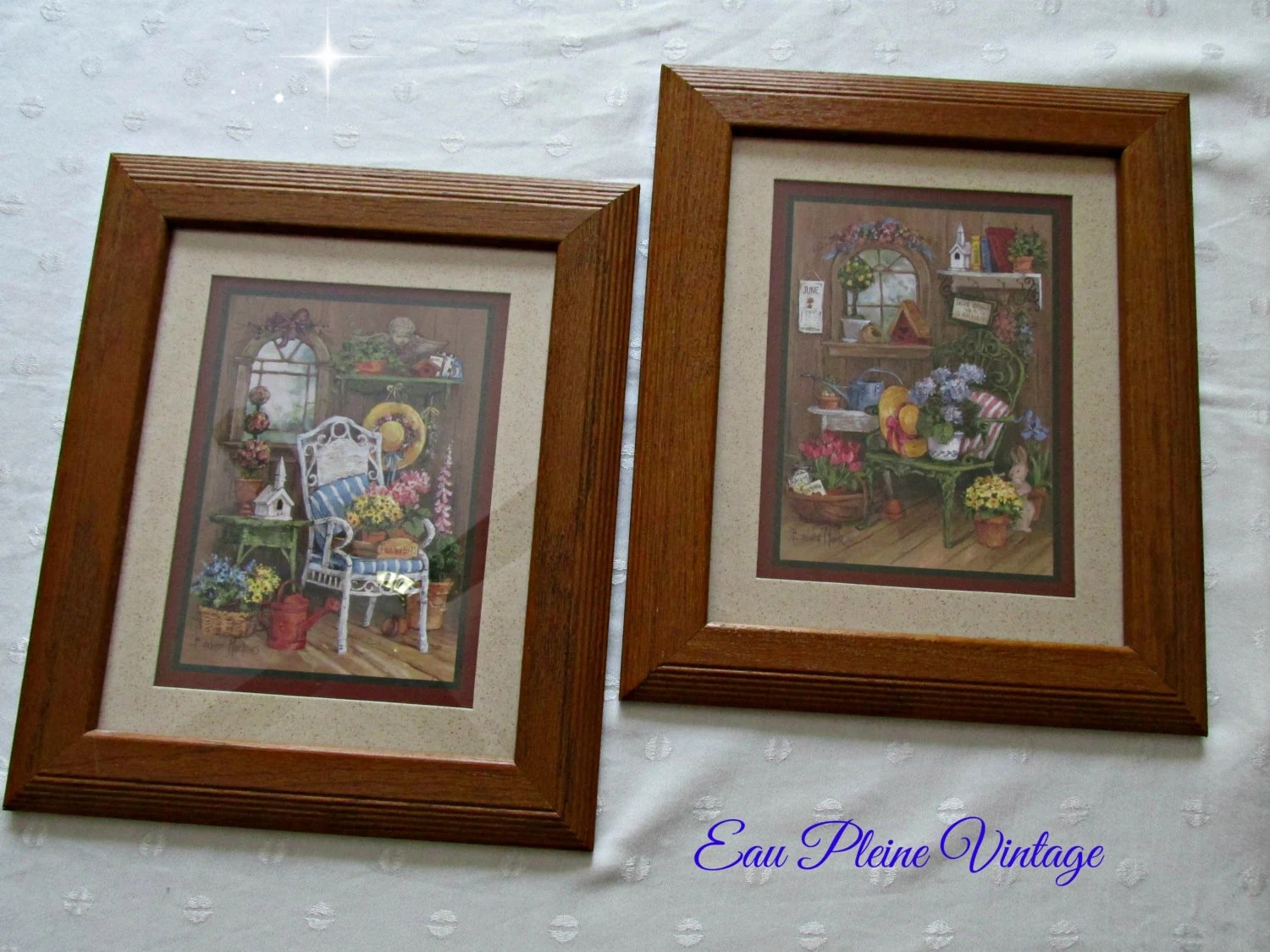 Home Interiors Gifts Vintage Homco Framed Set Country Floral