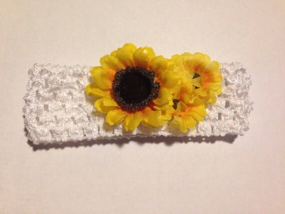 sunflower infant headband