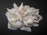 BEACH Wedding Hair Accessories Unique Bridal Ivory Piece