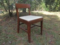 Mid Century Sewing Chair, seat lift chair, wooden chair ...