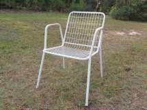 Retro White Patio Chair Mid Century
