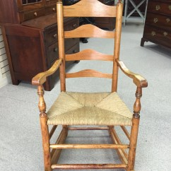 Woven Rocking Chair Chairs For Home Theater Room Items Similar To Antique Early American Ladderback With Rush Seat Circa 1780-1820 ...
