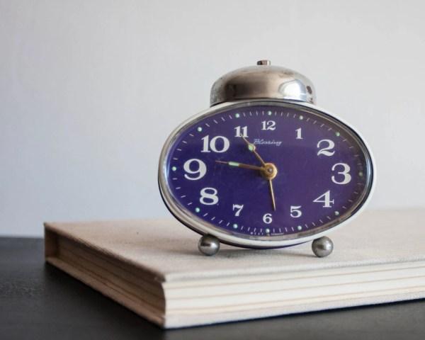 Small Alarm Clock Blessing Werke German Desk