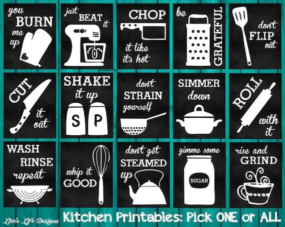 cute kitchen chalkboard sayings wayfair chairs decor. utensil wall art. funny