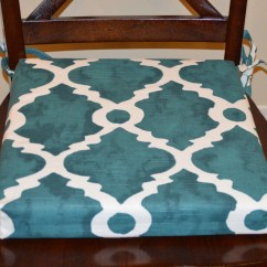 Teal Chair Cushions Peg Perego Rocker High Recall And White Cushion Cover Washable Removable