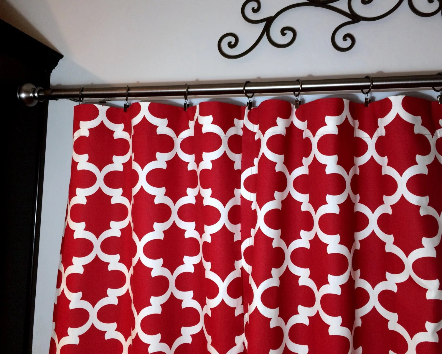 Designer curtain panels - Sale Red Curtains Designer Curtains Panels Red Window