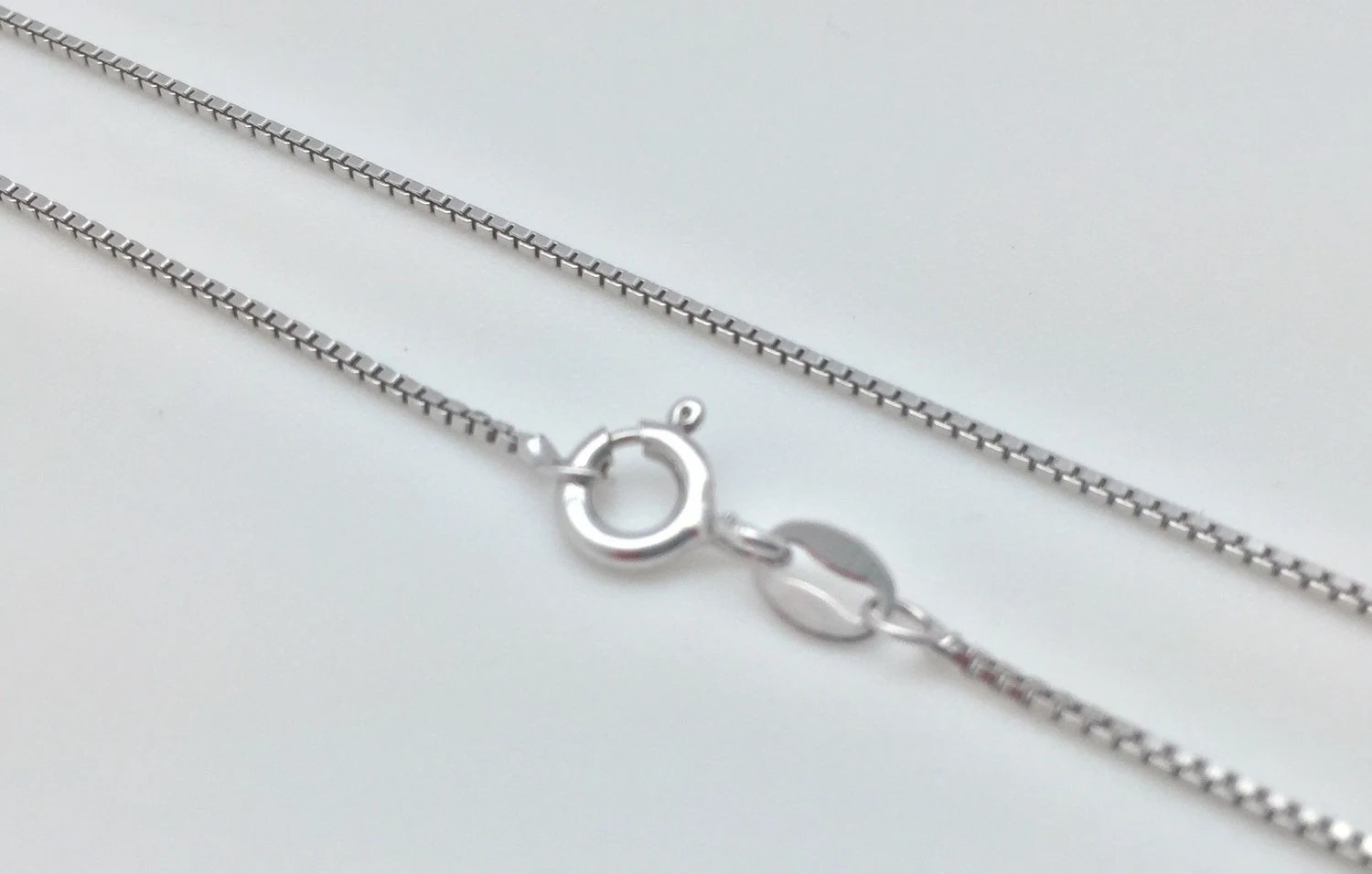 18 Silver Chain Thin Box Style // 925 Sterling Silver
