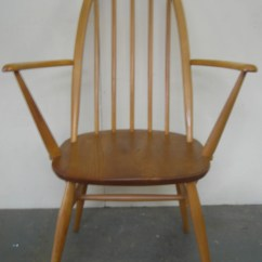 Solid Oak Pressed Back Chairs Air Chair Frame Single Dining Room Kitchen By Ercol