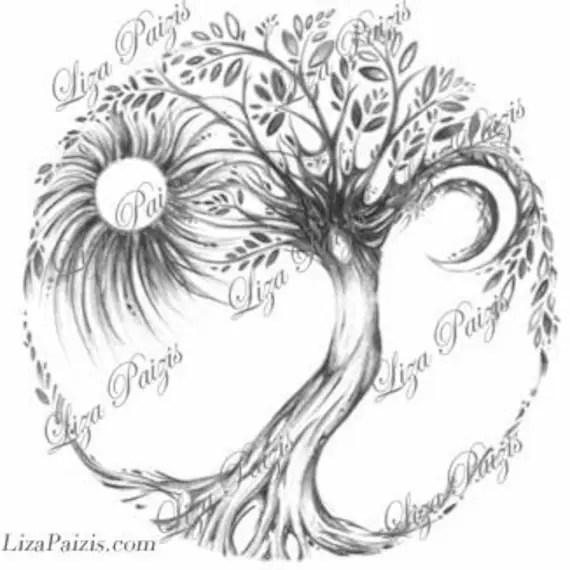 Tree of Life Tattoo design by Liza Paizis original tree