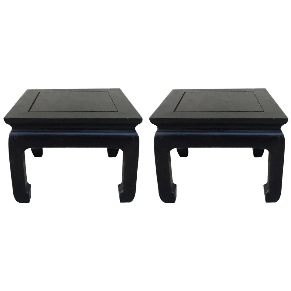 fabulous pair of mid century vintage petite side tables in. Black Bedroom Furniture Sets. Home Design Ideas