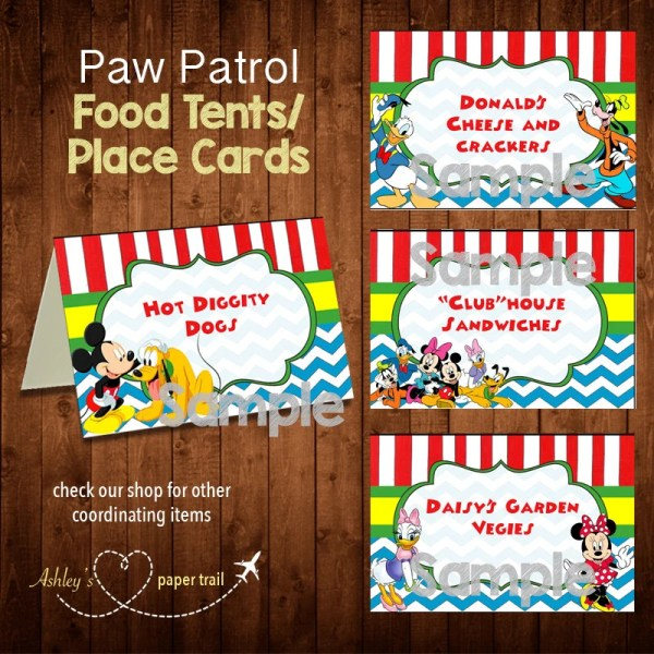 Mickey Mouse Clubhouse Food Tents And Ashleyspapertrail