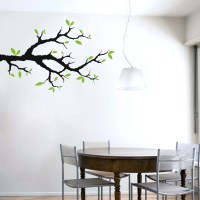 Tree Branch With Leaves Trees and Branches Wall Decals
