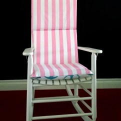 Rocking Chair Cushion Covers Stylish High On Sale Cover Pink Stripe Blue