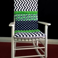 Blue Green Chair Your Covers Rocking Cushion Cover Polka Dot Chevron