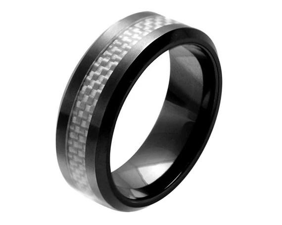 Mens Engagement Ringmens Ceramic Wedding Ring By Simplenunique