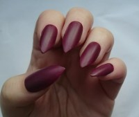 Items similar to Burgundy Matte Fake Nails / For Her ...