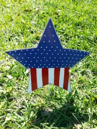 Patriotic Star Yard Decoration 4th of July Outdoor Decor