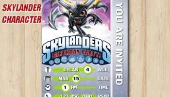 Skylanders Invitation Card Birthday Party Custom Printable File DIY327