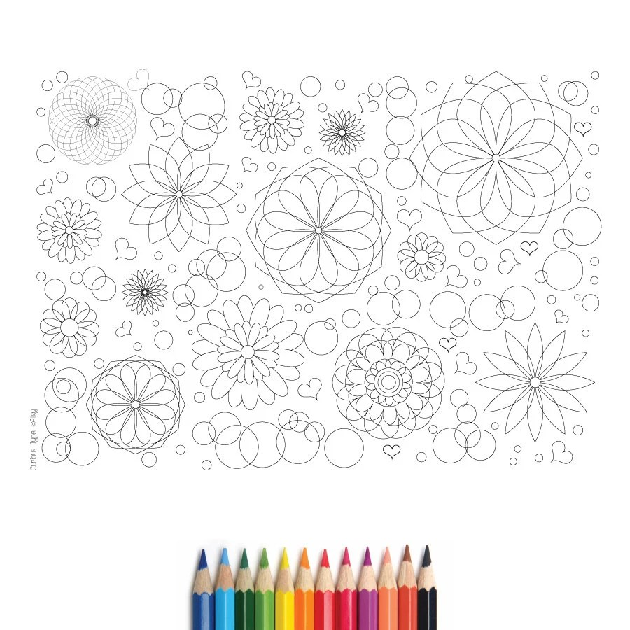 Popular items for adult coloring pages on Etsy