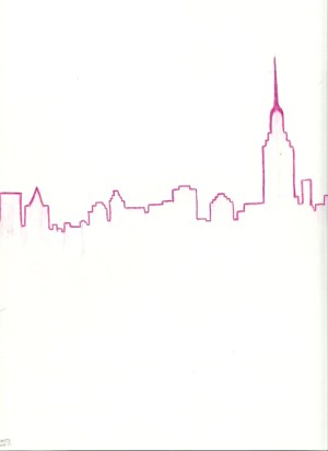 york drawing skyline pink skylines drawings nyc easy sketch pencil mobile tattoo silhouette instant pretty visit plane
