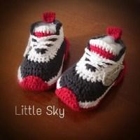 Crochet Nike Baby Shoes Pattern from MyLittleSky on Etsy ...
