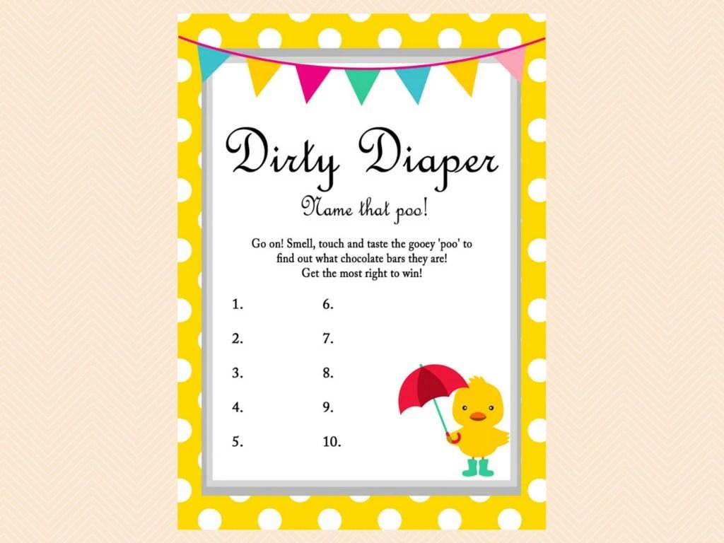 Dirty Diaper Game Name That Poo Game Chocolate Bar Neutral